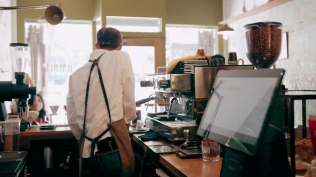 Small business of retro coffee shop video