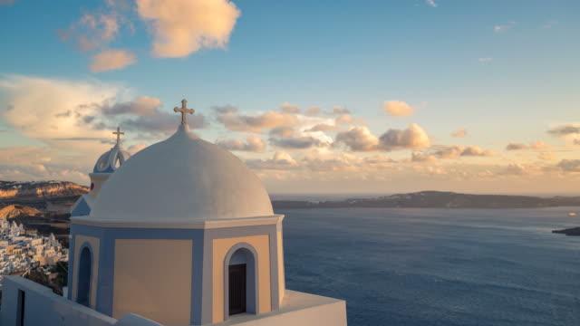 Small church on Santorini Island, Greece video