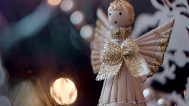 Small decorative angel with bow video