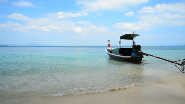 Small Fishing Boat on the Beach video