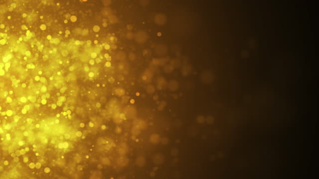 Small Gold Particles Horizontal Movement, 4K Video video