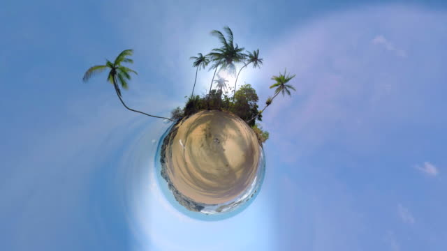 Small Planet Effect of a beach in Costa Rica video