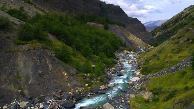 A small river at the Torres del Paine mountain range A small river at the Torres del Paine mountain range sorpresa stock videos & royalty-free footage