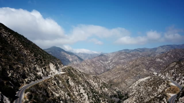 Small Road Snaking Through California Mountains video