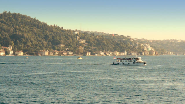 Small shuttle cruising in Istanbul city video