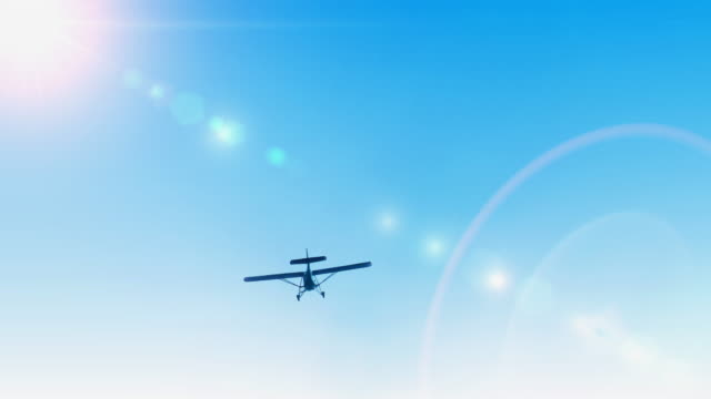 Small Sport Airplane - Aircraft Flying in The Sky, Ultralight Airplane