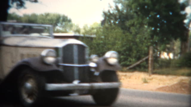 (8mm Film) 1951 Small Town Car Show