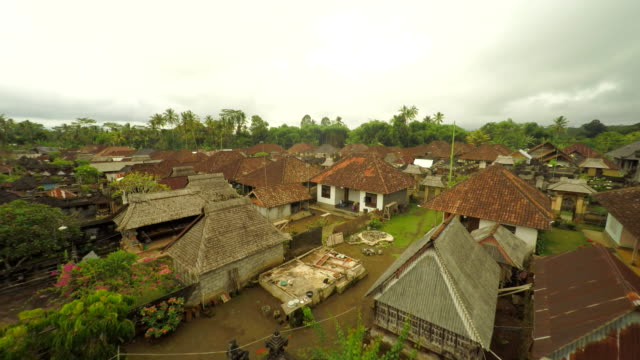 AERIAL Small Town In Bali video