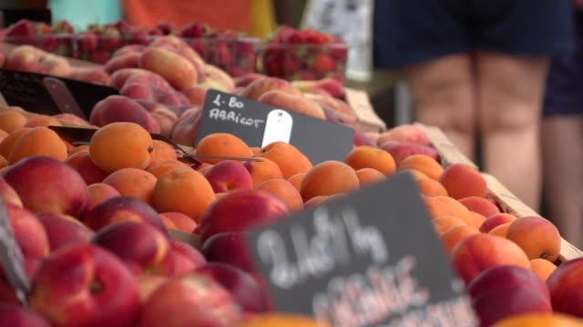 vidéos et rushes de petit marché de légumes - bretagne