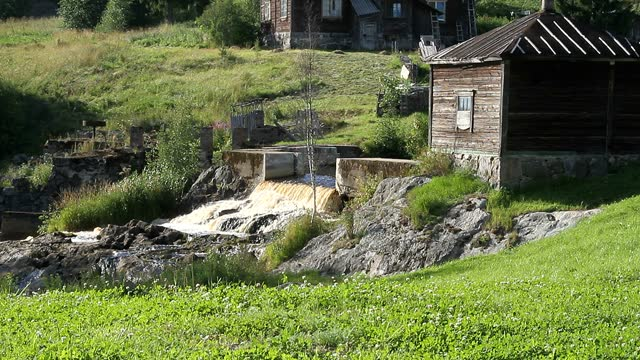 Small vintage dam for water,