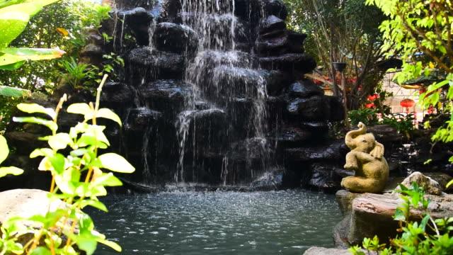 Small waterfall.