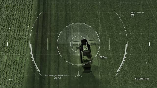 vídeos de stock, filmes e b-roll de agricultura inteligente - drone agrícola com aplicação de agricultura inteligente para controle geral da colheita e coleta de dados - exatidão