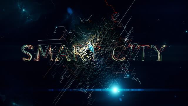 smart city cube - smart city stock-videos und b-roll-filmmaterial
