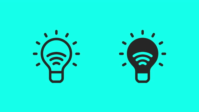 Smart Light Bulb Icons - Vector Animate
