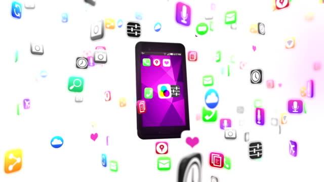 Smart phone loads apps video