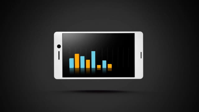 Smart phone with bar graphs