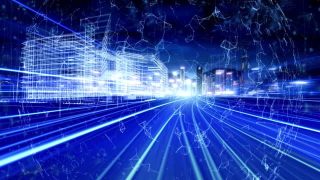 intelligente system-verkehrskonzept - smart city stock-videos und b-roll-filmmaterial