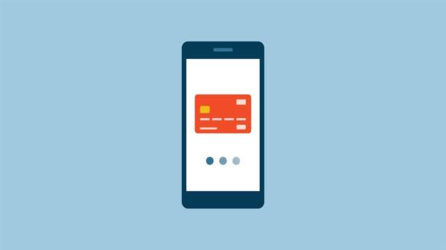 vídeos de stock e filmes b-roll de smartphone and e-payments - shop icon
