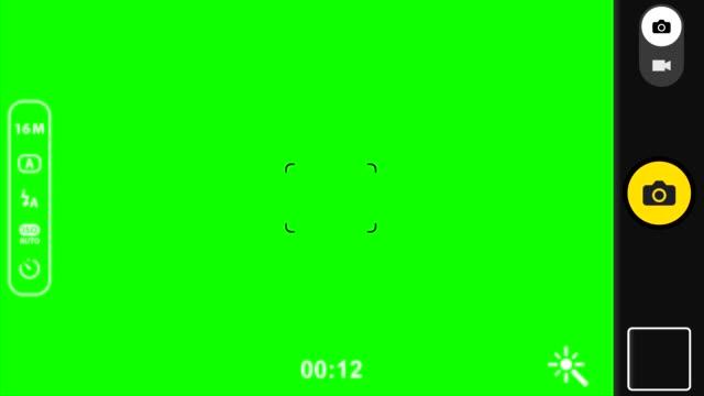 帶綠色螢幕的智慧手機相機錄製取景器 - 錄影像 個影片檔及 b 捲影像