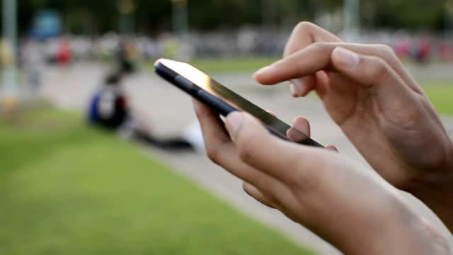 Smartphone in park video
