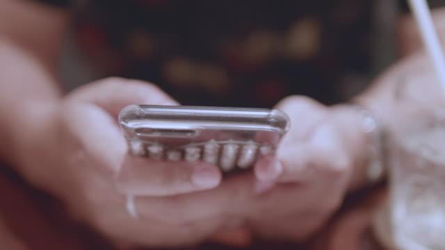 Smartphone in Restaurant video