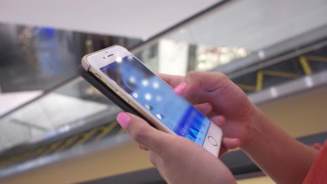 smartphone mall close up shot video