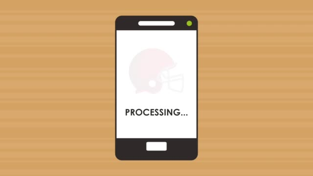 smartphone proccessing game online animation video