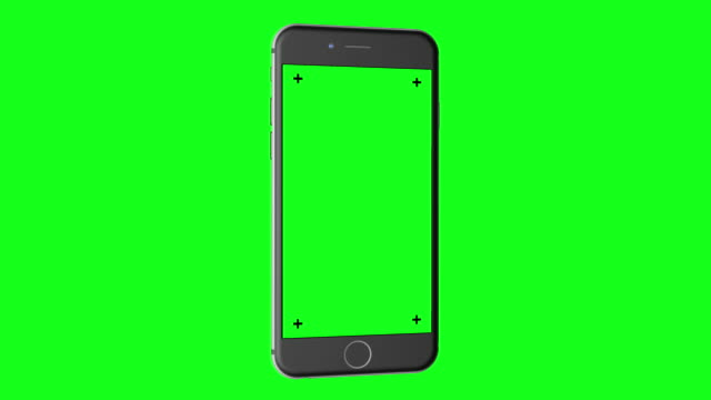 3D Smartphone (portrait orientation) rotates on Chroma Key Green BG video