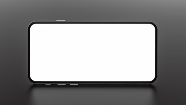 smartphone with blank screen. template, mockup, design. - space background стоковые видео и кадры b-roll