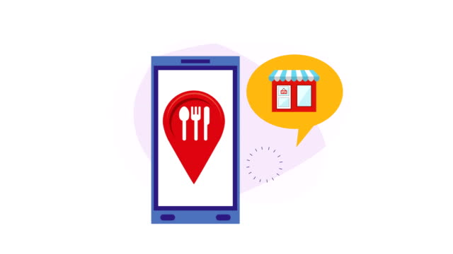 smartphone with ecommerce food application