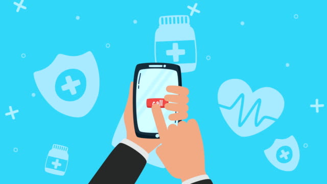 smartphone with online doctor technology video