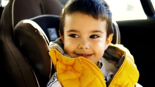 Smiled toddler boy video