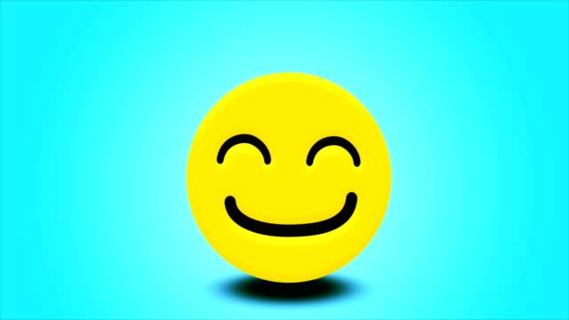 4k smiley emoji springen animation - endlos wiederholbar - smiley stock-videos und b-roll-filmmaterial