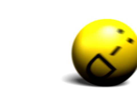 smileys set – 3d-rollen emoticons - smiley stock-videos und b-roll-filmmaterial