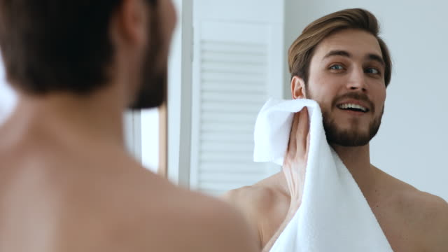 Wiping Beard in downward motion