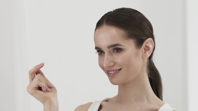 Smiling Attractive Woman Clicking With Fingers Smiling Attractive Woman Clicking With Fingers. Young Female With Natural Beauty Snapping Fingers snapping stock videos & royalty-free footage