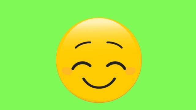 lächelndes gesicht emoji - smiley stock-videos und b-roll-filmmaterial