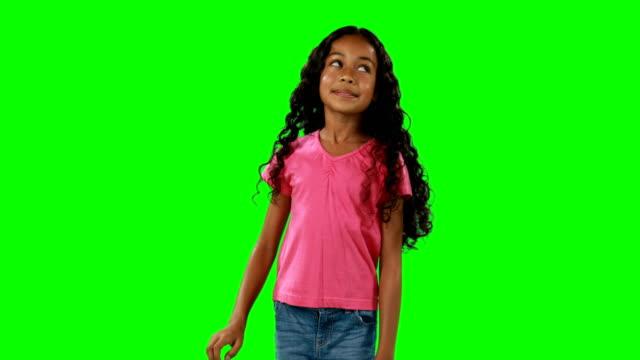 vídeos de stock e filmes b-roll de smiling girl touching digital screen 4k - europe points