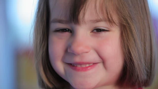 Smiling Little Girl  playroom stock videos & royalty-free footage