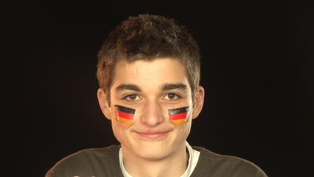 Smiling Patriotic GERMANY male - HD & PAL video