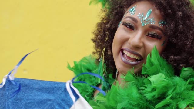 Smiling woman celebrating the Carnival in Pernambuco, Brazil Pernambuco State, Brazil, Olinda, Recife, Brazilian Carnival carnival celebration event stock videos & royalty-free footage