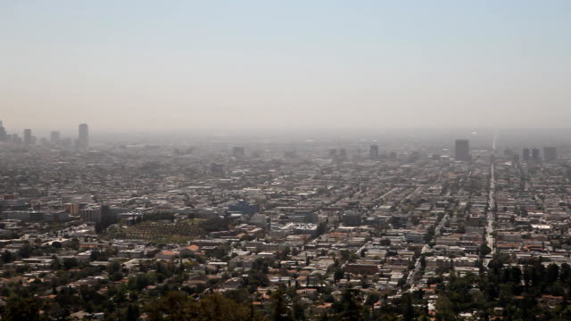 Smog Covering Downtown Los Angeles video
