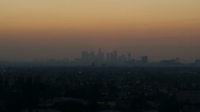 Smoggy dawn LA HD timelapse video