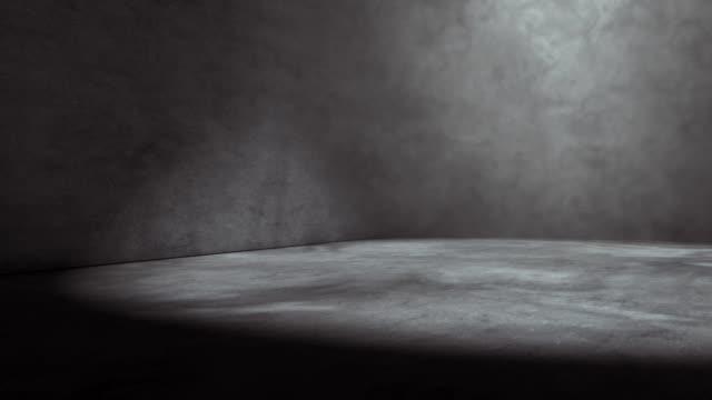 smoke and fog indoor scene - studio camera video stock e b–roll