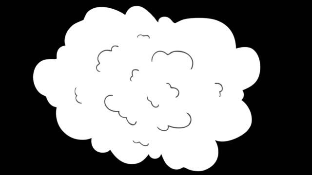vídeos y material grabado en eventos de stock de centro de humo transiciones de animación de dibujos animados dibujadoa a mano. - luchar