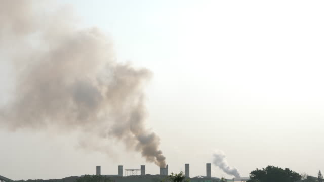 Smoke damaged Air pollution from industrial plants. industry and pollution concept. Slow Motion Smoke damaged Air pollution from industrial plants. industry and pollution concept. Slow Motion generation x stock videos & royalty-free footage