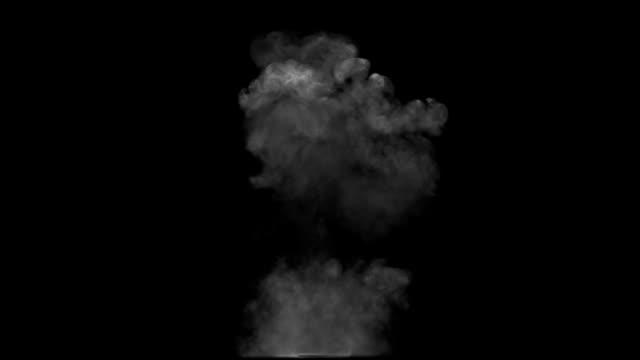 Smoke explosion and rising up mushroom video