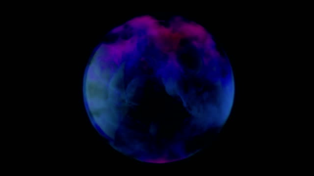 smoke fills a glass sphere. - логотип стоковые видео и кадры b-roll