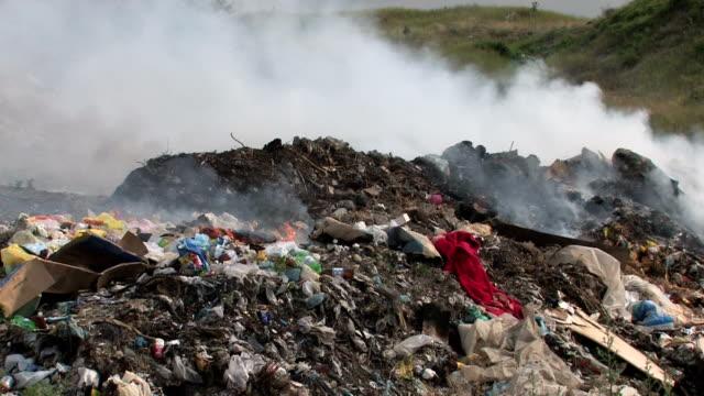 HD Smoke from Burning dump video