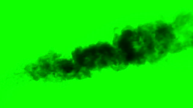 Smoke from Burnt Fuel Alpha Channel. Black smoke rises from a large burning object. Ideal for simulating burned equipment and buildings in the middle distance from the camera alpha channel stock videos & royalty-free footage